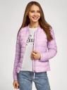 Куртка-бомбер на молнии oodji #SECTION_NAME# (фиолетовый), 10203061-1B/33445/8001N - вид 2