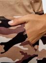 Брюки трикотажные на завязках oodji #SECTION_NAME# (коричневый), 16701042-2B/46919/3933O - вид 5