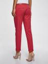 Брюки-чиносы с ремнем oodji для женщины (красный), 11706190-5B/32887/4500N