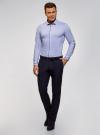Рубашка приталенная с контрастной отделкой oodji #SECTION_NAME# (синий), 3B140006M/34146N/7079B - вид 6