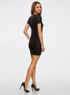 Платье трикотажное с коротким рукавом oodji для женщины (черный), 14011007/45262/2900N - вид 3