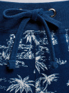 Брюки трикотажные на завязках oodji для женщины (синий), 16701042/46919/7930G - вид 4