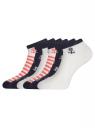 Комплект укороченных носков (6 пар) oodji для женщины (разноцветный), 57102433T6/47469/18