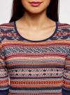 Платье жаккардовое с геометрическим узором oodji для женщины (красный), 14001064-5/46025/3133J - вид 4