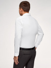 Рубашка базовая приталенная oodji #SECTION_NAME# (белый), 3B140000M/34146N/1000N - вид 3