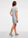Платье свободного силуэта из фактурной ткани oodji #SECTION_NAME# (серый), 14000162-7/47481/2019Z - вид 3
