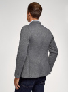 Пиджак трикотажный приталенный oodji #SECTION_NAME# (синий), 5L912048M/49782N/7900O - вид 3