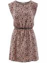 Платье принтованное из вискозы oodji #SECTION_NAME# (розовый), 11910073-2/45470/4B29F