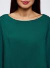 Блузка вискозная базовая oodji #SECTION_NAME# (зеленый), 11411135-3B/26346/6E00N - вид 4