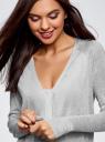 Кардиган удлиненный без застежки oodji для женщины (серый), 63212571/46372/2000M
