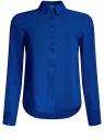 Блузка базовая из вискозы oodji для женщины (синий), 11411136B/26346/7500N