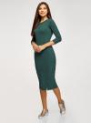 Платье приталенное с надписью oodji #SECTION_NAME# (зеленый), 14011059/48037/6929P - вид 6