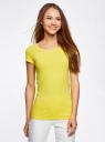 Комплект приталенных футболок (2 штуки) oodji для женщины (желтый), 14701005T2/46147/5100N
