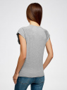 Футболка женская oodji для женщины (серый), 14707001-62/46154/2323Z