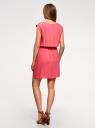 Платье вискозное без рукавов oodji #SECTION_NAME# (розовый), 11910073B/26346/4101N - вид 3