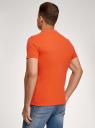 Поло из ткани пике oodji для мужчины (оранжевый), 5B422001M/44032N/5500N