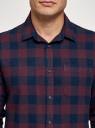 Рубашка хлопковая с длинным рукавом oodji #SECTION_NAME# (красный), 3L320016M/39882N/4979C - вид 4