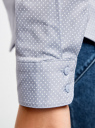Рубашка базовая с нагрудными карманами oodji #SECTION_NAME# (синий), 11403222B/42468/7010D - вид 5