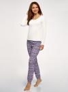 Пижама хлопковая с брюками oodji для женщины (разноцветный), 56002226/46154/1283E - вид 6