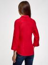 Блузка льняная с карманами oodji #SECTION_NAME# (красный), 21412145/42532/4500N - вид 3