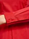 Блузка базовая с баской oodji #SECTION_NAME# (красный), 11400444B/42083/4502N - вид 5