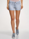 Шорты джинсовые стретч с отворотами oodji #SECTION_NAME# (синий), 12807082B/45491/7000W - вид 2