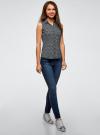 Рубашка базовая без рукавов oodji #SECTION_NAME# (синий), 11405063-4B/45510/7912E - вид 6