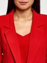 Жакет с накладными карманами и рукавом 3/4 oodji #SECTION_NAME# (красный), 21203109/46955/4500N - вид 4