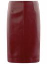 Юбка-карандаш из искусственной кожи oodji для женщины (красный), 28H01002B/45059/4903N