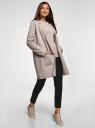 Кардиган с накладными карманами без застежки oodji для женщины (бежевый), 63212590/18941/3302M