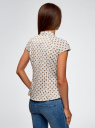 Рубашка реглан с воротником-стойкой oodji #SECTION_NAME# (белый), 13K03006-1B/26357/1252G - вид 3