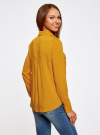 Блузка базовая из вискозы с нагрудными карманами oodji #SECTION_NAME# (желтый), 11411127B/26346/5200N - вид 3