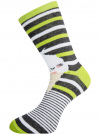 Комплект высоких носков (3 пары) oodji #SECTION_NAME# (разноцветный), 57102902T3/47469/46 - вид 4