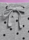 Брюки трикотажные на завязках oodji для женщины (серый), 16701042/46919/2329D - вид 4