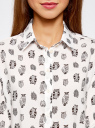 Блузка вискозная прямого силуэта oodji #SECTION_NAME# (белый), 11411098-3/24681/1229O - вид 4