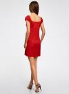 Платье хлопковое со сборками на груди oodji #SECTION_NAME# (красный), 11902047-2B/14885/4501N - вид 3