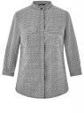 Блузка вискозная с нагрудными карманами oodji #SECTION_NAME# (серый), 11403225-7B/42540/2930G