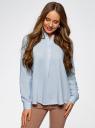 Блузка вискозная А-образного силуэта oodji #SECTION_NAME# (синий), 21411113B/26346/7002N - вид 2
