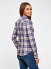 Рубашка принтованная хлопковая oodji #SECTION_NAME# (синий), 11406019/43593/7540C - вид 3