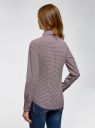 Рубашка хлопковая приталенного силуэта oodji для женщины (красный), 23K02001/48461/1249G