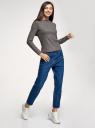Джемпер трикотажный с вырезом-лодочкой oodji для женщины (серый), 14201045/49812/2593X