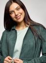 Пальто из искусственной замши oodji для женщины (зеленый), 18R03004/47301/6900N