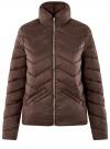Куртка стеганая с воротником-стойкой oodji для женщины (коричневый), 10203063/18268/3900N
