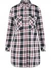 Платье-рубашка с карманами oodji #SECTION_NAME# (разноцветный), 11911004-2/45252/2912C