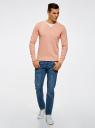 Пуловер с хлопковой вставкой на груди oodji #SECTION_NAME# (розовый), 4B212006M/39245N/5410B - вид 6