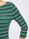 Платье трикотажное в полоску oodji #SECTION_NAME# (зеленый), 14001071-10/46148/6E25S - вид 4
