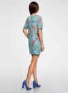 Платье из фактурной ткани прямого силуэта oodji #SECTION_NAME# (зеленый), 24001110-3/42316/6519F - вид 3