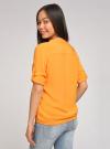 Блузка вискозная с рукавом-трансформером 3/4 oodji #SECTION_NAME# (оранжевый), 11403189-2B/26346/5500N - вид 3