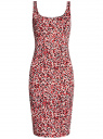 Платье-майка трикотажное oodji #SECTION_NAME# (розовый), 14015007-3B/37809/4110F