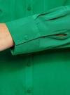 Блузка базовая из вискозы с карманами oodji #SECTION_NAME# (зеленый), 11400355-4/26346/6D00N - вид 5